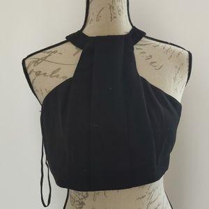Ally US2 halter neck crop top zipper back
